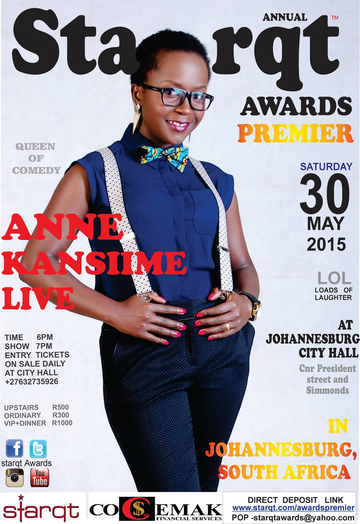 KANSIIME ANNE LIVE IN JOHANNESBURG, SOUTH AFRICA