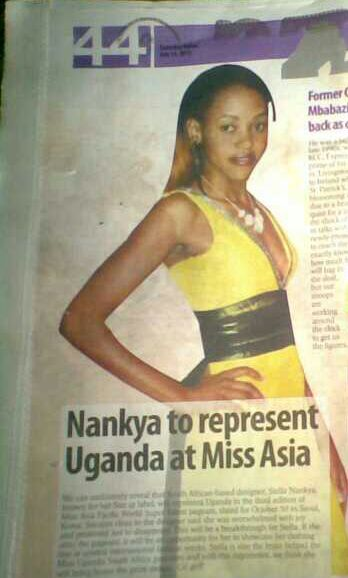 Nankya to represent Uganda at Miss Asia