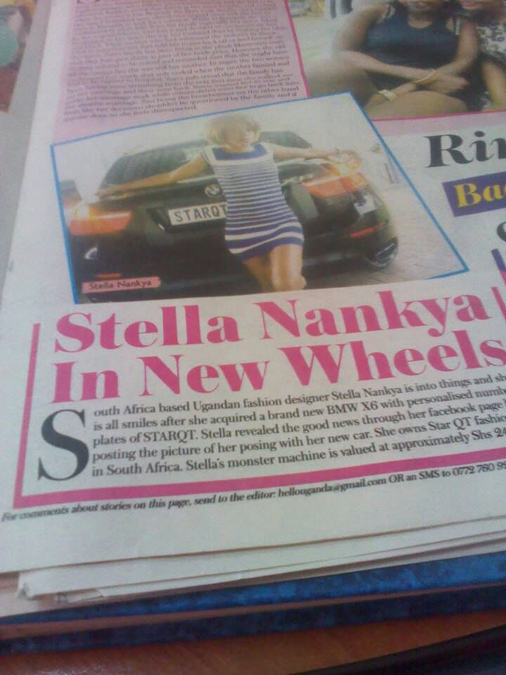 Stella Nankya In New Wheels
